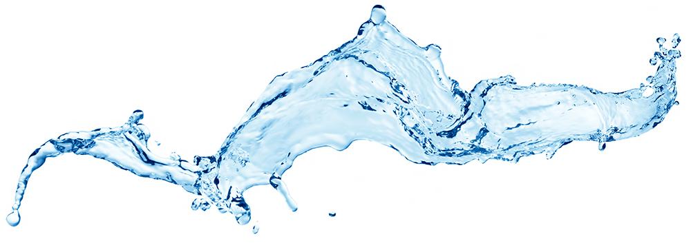 Water splashes isolated on white background.